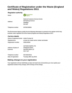 Environment Agency Water Carrier License
